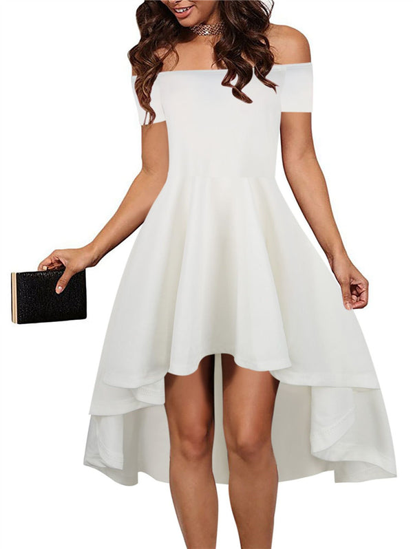 Off-the-shoulder Sexy Tuxedo Party Dress
