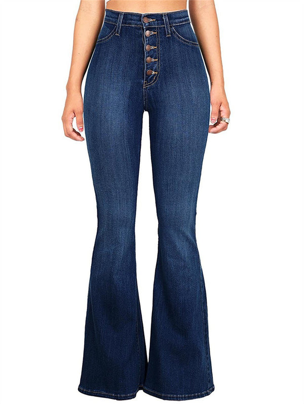 Slim High Waist Butt Lifting Flare Jeans
