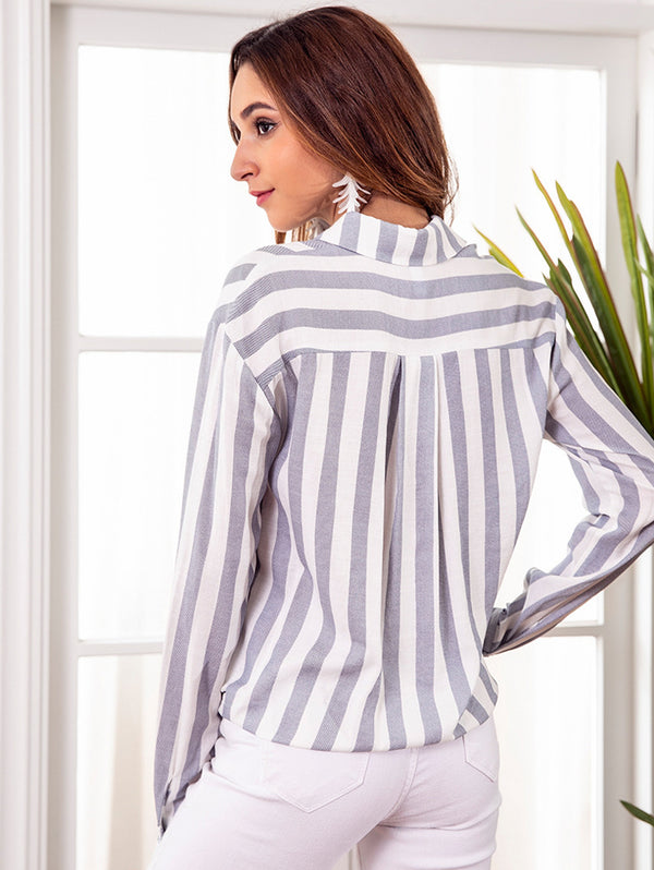 Striped Casual Button Long Sleeve Shirt