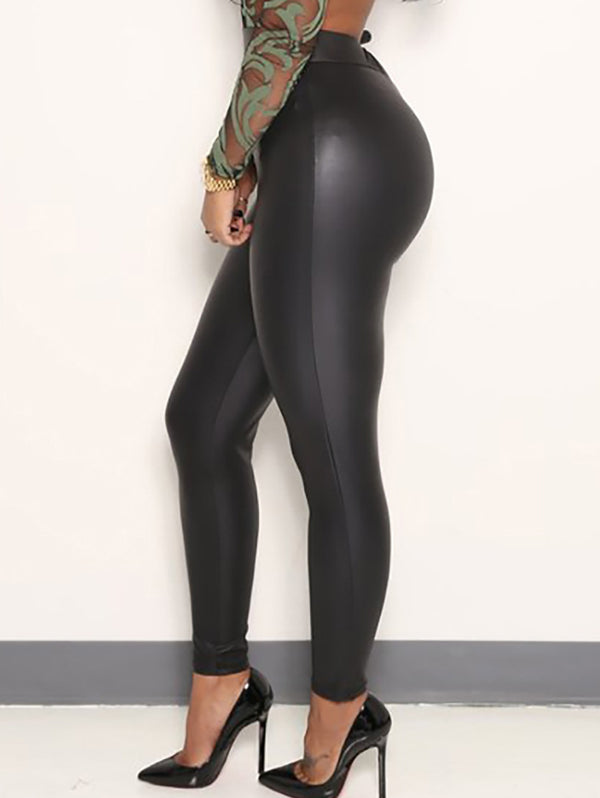Fashion Sexy Slim Leather Legging