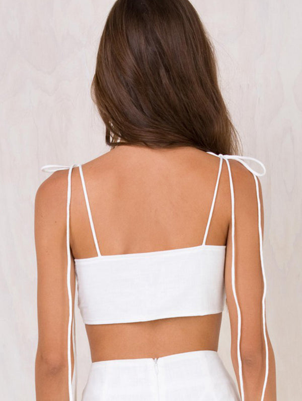 Super Short Plunging Gallus Crop Top