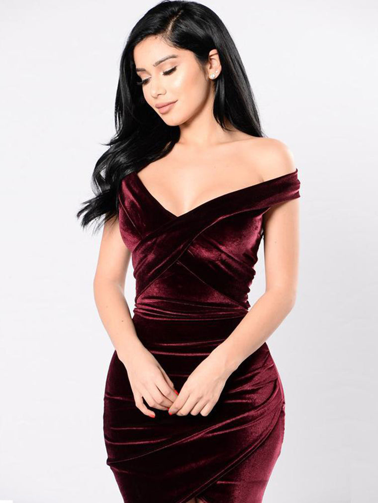 Sexy Nightclub Off-the-shoulder Dress