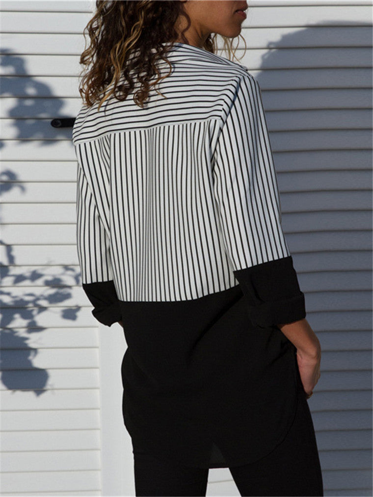 Striped Casual Long Sleeve Shirt
