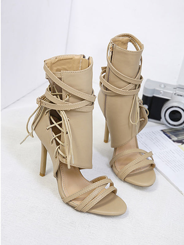 High Heel Bandage Sandals