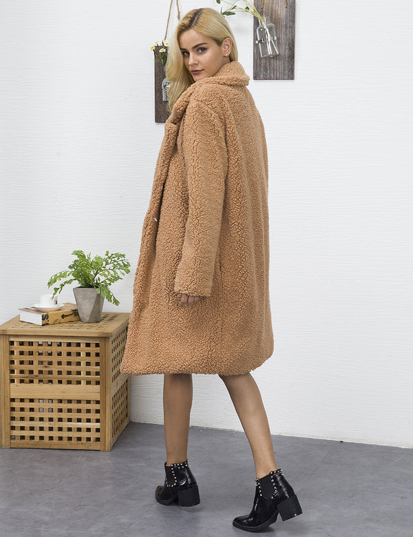 Medium Long Plain Warm Winter Coat