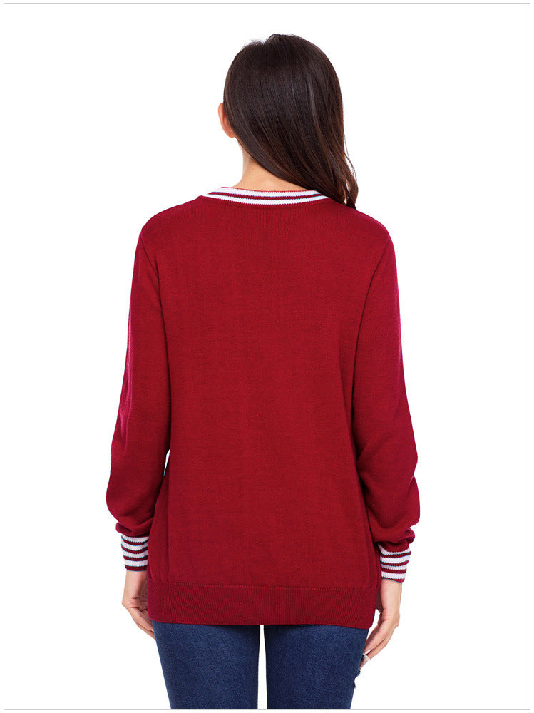 Santa Claus Round Neck Loose Sweater