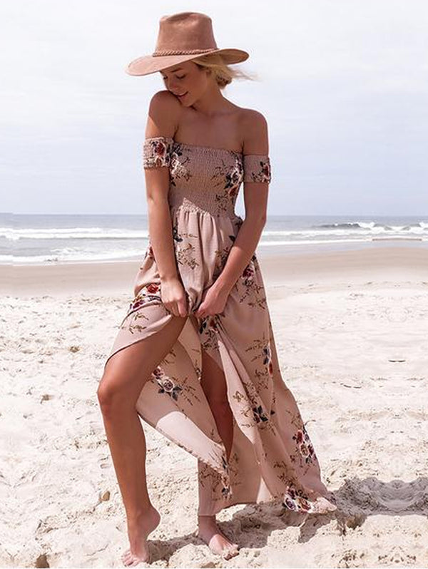 Summer Beach Slit Spilt Sundress Sleeveless Dresses