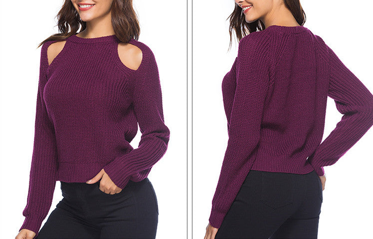 Sexy Solid Color Knitwear