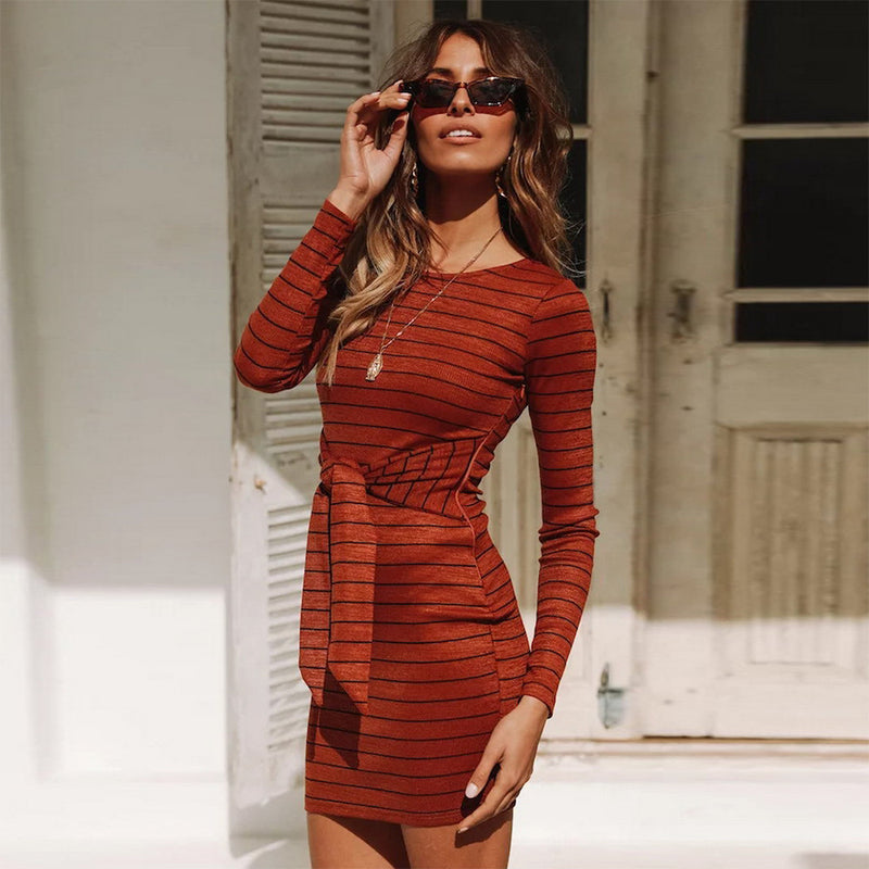 Slim Stripe Dress