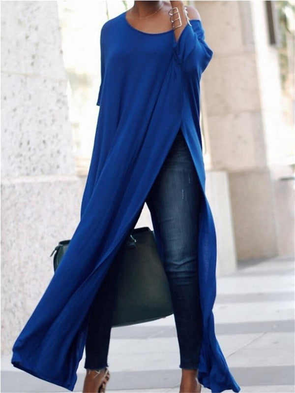 Split Long Sleeve Max Dress