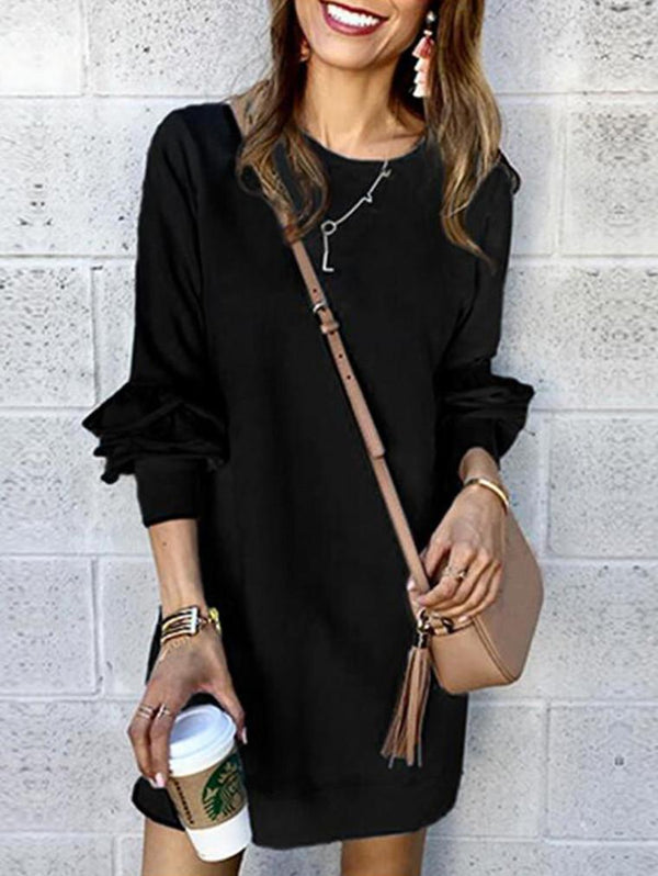 Ruffle Long Sleeve Dress