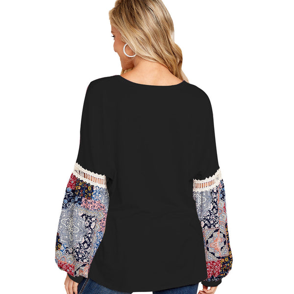 Stitched Long Sleeve T-shirt
