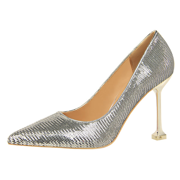 Bling Pu Sexy High Heel Shoes