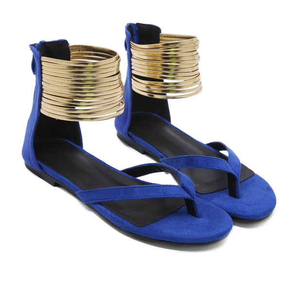 Flat Suede Toe Post Sandals