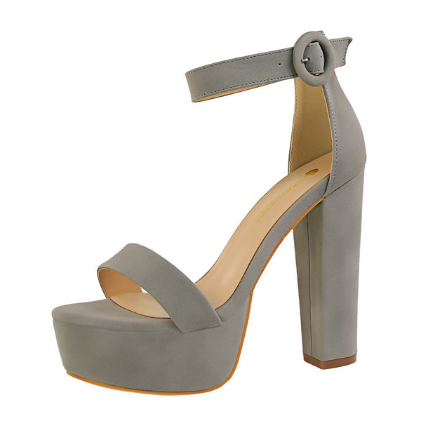 High Platform Deep Toe Sandals