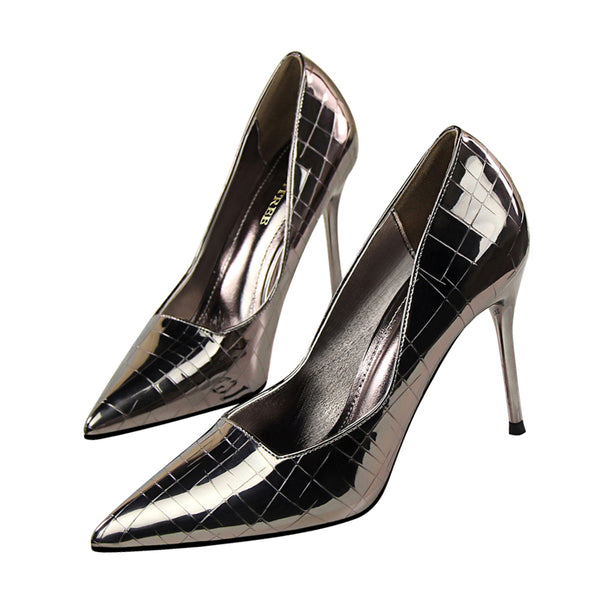 Pu Point Toe High Heel Shoes
