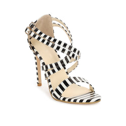 High Heel Criss Cross Suede Sandal
