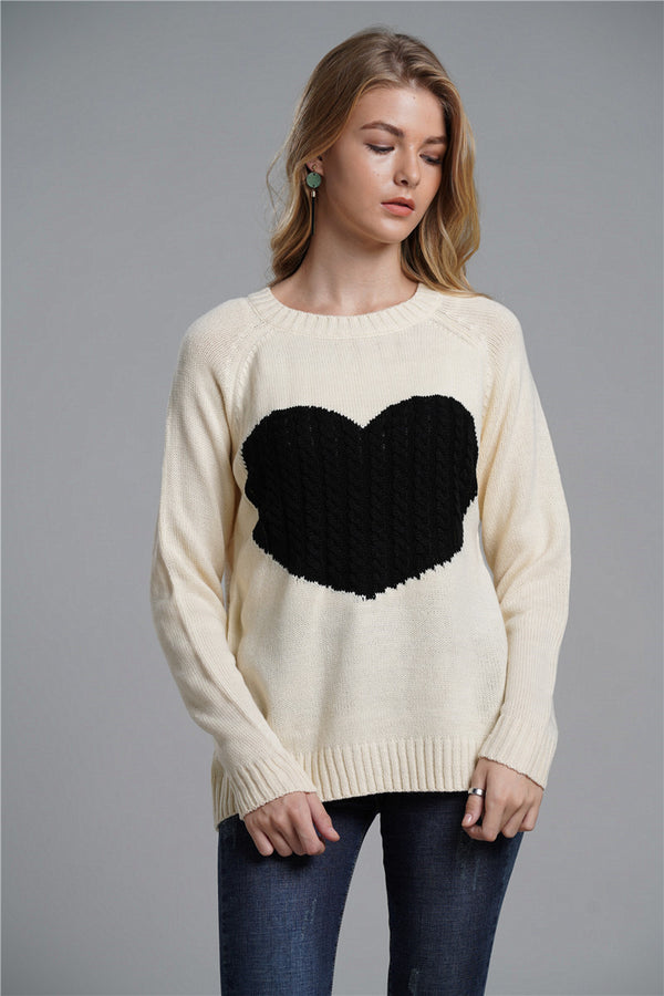 Loose Commuter Pullover Round Neck Sweater