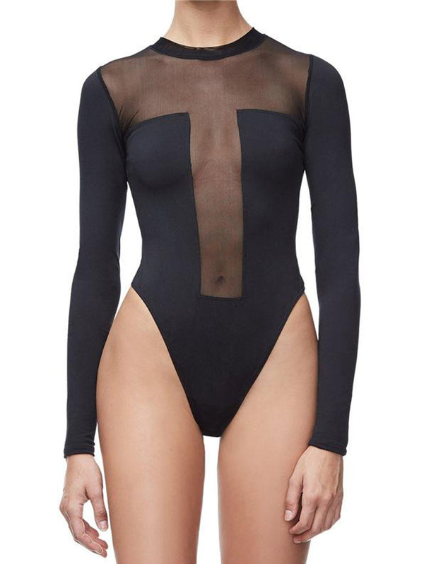Sexy Long Sleeve Bodysuit