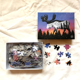 moose puzzle, moose jigsaw puzzle, educational puzzle, puzzle art, family fun puzzle
