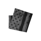 Grunge American Flag black and gray; grunge american flag neck gaiter, grunge american flag neck warmer, grunge american flag face mask, grunge american flag beanie, grunge american flag headband, grunge american flag wrist band