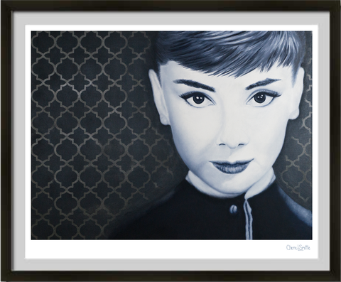 Audrey Hepburn, celebrity art, female artwork, lady : fine art print, colorado artist, colorado art, colorado artwork