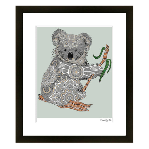 Banjora - Koala done in the Aboriginal style, koala art, koala artwork, dotwork, mandala, Australia art, save the animals