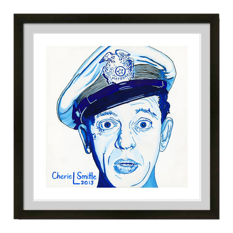 Barney Fife artwork, Andy Griffith Show art, Police Officer art, Boys in Blue art, Pop Art