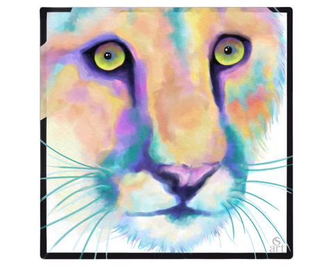 Sticker: Colorful Cougar