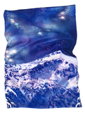 Competing for Attention Face Mask (double buff) - mountains and galaxy, snow, locale outdoor