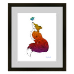 Fox with Henna and Paisley with some Mandelbrot mixed in. colorado artist, colorado art, colorado artwork, butterflies, butterfly, fox silhouette, butterfly silhouette