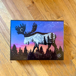 moose puzzle, moose jigsaw puzzle, educational puzzle, puzzle art, family fun puzzle, wood puzzle, irregular cut wood puzzle