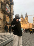 The Moose hat made it all the way to Prague.