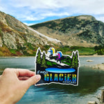 St. Marys Glacier Colorado, hikers, snowshoeing, backpackers.  Sticker