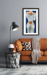 female form, female figure, booty, butt, behind, lady backside : fine art print, colorado artist, colorado art