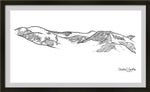 Loveland Ski Area line art, loveland line art, Continental divide line art, colorado mountain line art, colorado artist