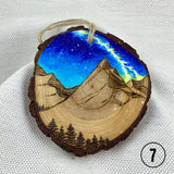 Original Art: Round Wood Ornaments