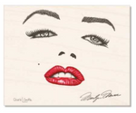 Maple Wood : Marilyn Monroe Signature; Marilyn Monroe face, dotwork, stipple, illustration, celebrity face, marilyn monroe