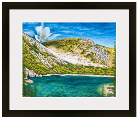 St. Marys Glacier Colorado, hikers, snowshoeing, backpackers. Columbine, columbine flower, idaho springs colorado, colorado artist, colorado art, colorado artwork