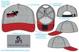 Moose ; Buffalo Plaid, Dad Hat, Trucker Hat, Plaid Moose with Lake Dillon 10 Mile Mountain Range Baseball Hat