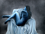 sleeping beauty, avatar, naked woman sleeping, colorado art, colorado artist, colorado artwork