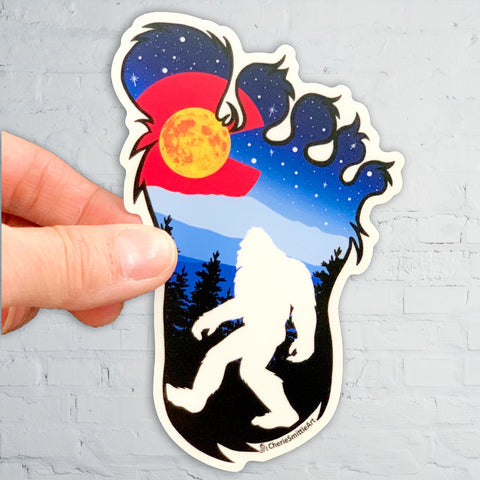 Colorado flag Bigfoot sticker, colorado flag big foot sticker, colorado flag yeti sticker, colorado flag Sasquatch sticker, Colorado flag sticker, yeti sticker, Sasquatch sticker, Bigfoot sticker, big foot sticker, Bigfoot slap, big foot slap, yeti slap