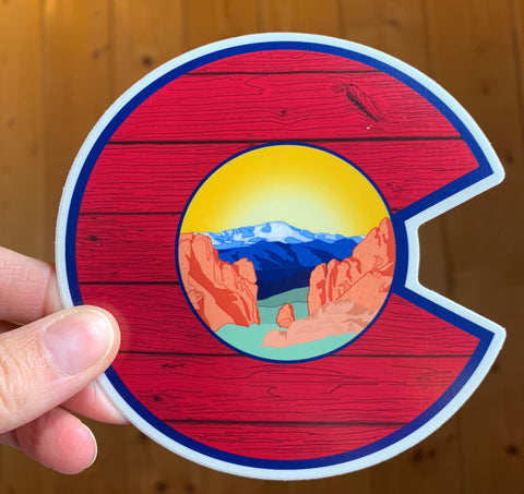 Sticker: CO Springs Pikes Peak & Garden of the Gods
