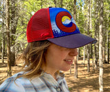 Red Colorado Flag Mountain Hat