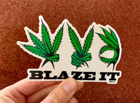 Sticker: Weed Blaze It
