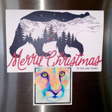 Cougar Magnet, cat, mountain lion, puma, watercolor