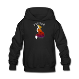 Youth Hoodie : Little Fox - black