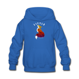 Youth Hoodie : Little Fox - royal blue