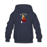 Youth Hoodie : Little Fox - navy