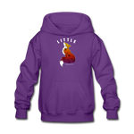 Youth Hoodie : Little Fox - purple